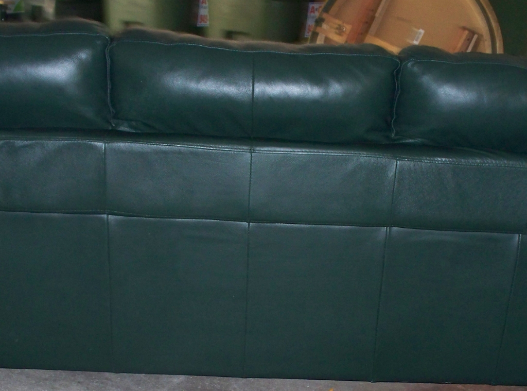 Forest Green Couch Picture 3